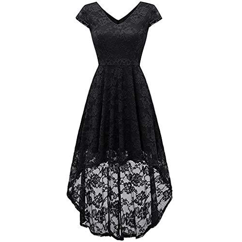 con Party abiti da Print Black in da lunghi donna Vintage cocktail sera Vpass Abiti Elegante da Costumi pizzo patchwork Princess Hepburn abito aEqw8dg