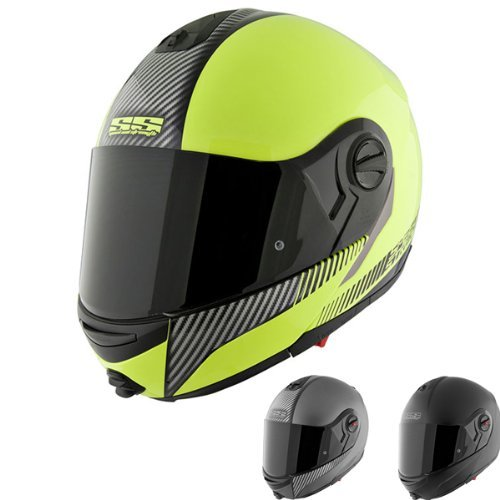 Speed & Strength SS1700 Solid Helmet , Helmet Type: Modular Helmets, Helmet Category: Street, Distinct Name: Lock and Load Matte Black, Primary Color: Black, Size: Md, Gender: Mens/Unisex 876462