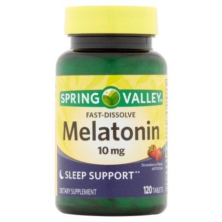 Spring Valley Fast-Dissolve Melatonin, 10 Mg, 120 Tablets