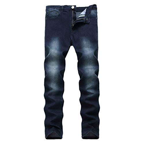 Stonewashed Jeans Pantalones Hombres Los Vaqueros Mezclilla Pantalones Used De Destruido Casuales Slim Strech Dunkelblau Pantalones Jeans Fit Biker De Skinny Look BqzxxUg
