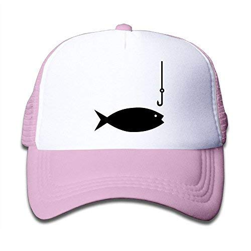 MKILIJNH Fishing Pole Clipart-1 On Boys and Girls Trucker Hat, Youth Toddler Mesh Hats Baseball Cap ()
