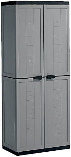 Kis Armoire Haute Jolly Gris Noir Plastique 68 X 39 X 166 Cm Amazon Fr Cuisine Maison