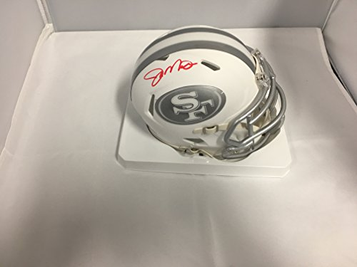 Joe Montana Autographed Signed San Francisco 49ers Rare ICE Mini Helmet GTSM COA & Hologram