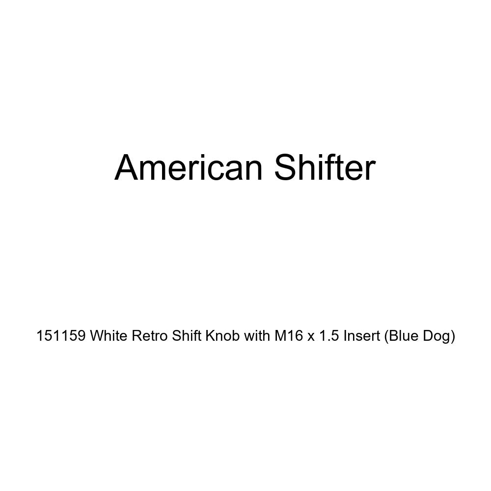 Blue Dog American Shifter 151159 White Retro Shift Knob with M16 x 1.5 Insert