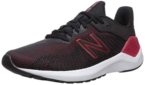 New Balance Men's VENTR V1 Running Shoe, Black/RED, 15 D US