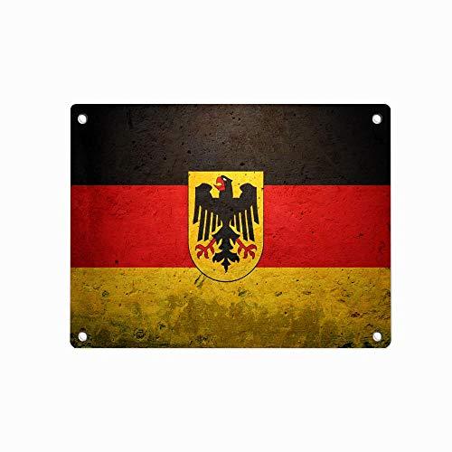 """Decorative Wall Tin Sign Pin-up Metal Decor Wall Art Garage Shop Bar Cave 12"""" X 8"""" [German Flag 1]"""