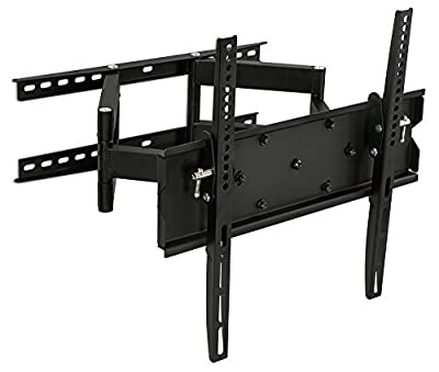 Mount-It! MI-347M Articulating TV Wall Mount Full Motion for Flat Screens, Corner Bracket, 32 35 40 42 45 50 55 Inch LCD/LED/Plasma Screens, VESA 400x400mm, 154 Lb Weight Capacity, Black
