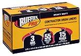 BERRY PLASTICS 1190275 55 gallon Black Liner (15 Pack)