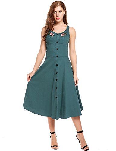 1950 button dress - 9