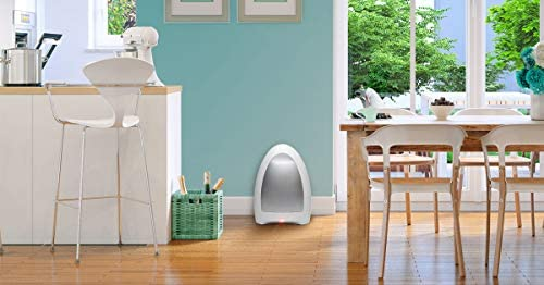 EyeVac Home – Touchless Stationary Vacuum, Dual High Efficiency Filtration, Corded, Bagless, Automatic Sensors, 1000 Watt – White 4119Q 2Bwl9wL