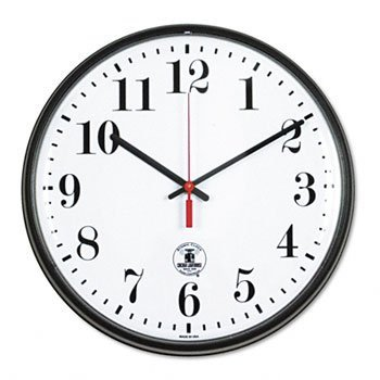 Chilit - Chicago Lighthouse Black Atomic Slimline Clock Clock,Atomic, 12.75,Bk (Pack Of2)
