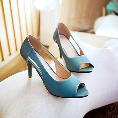 LvYuan Tacón Stiletto-Confort Innovador-Sandalias-Exterior Vestido Informal-Materiales Personalizados Semicuero-Azul Amarillo Rosa Blue