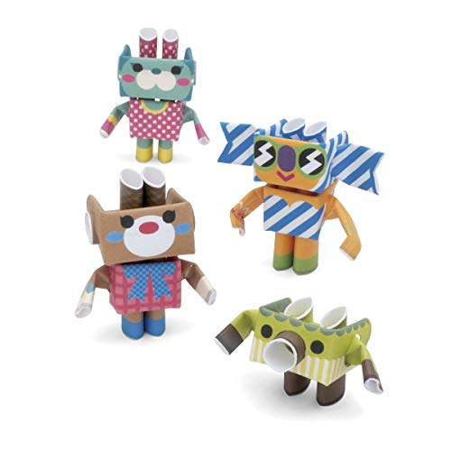 PIPEROID Sweets & Co. Paper Craft Robot kit from Japan - Photogenic Sisters & Their Brother ()