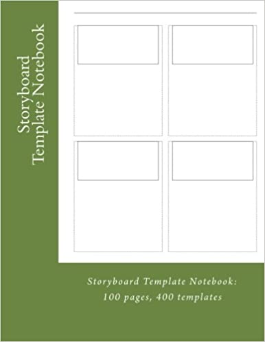 Storyboard Template Notebook 100 Pages 4 Templates Per Page