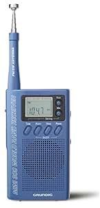 Grundig M300BL Mini300PE Handheld Shortwave Radio (Metallic Blue)