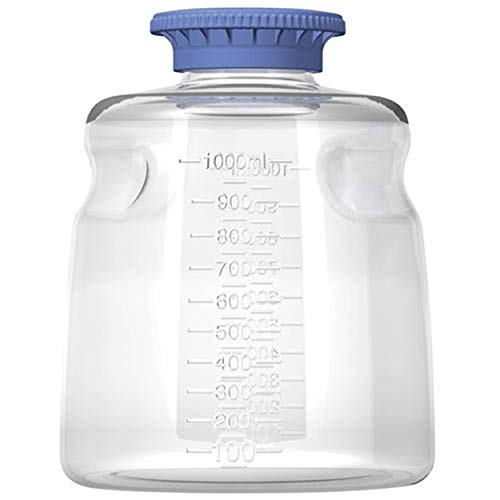 Autofil Autoclavable Polycarbonate Media Storage Bottles with SECUREgrasp GL45 Cap, 1000mL, Non-Sterile, - Bottles Sterile Non