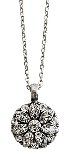Mariana Guardian Angel Crystal Pendant Necklace, 16
