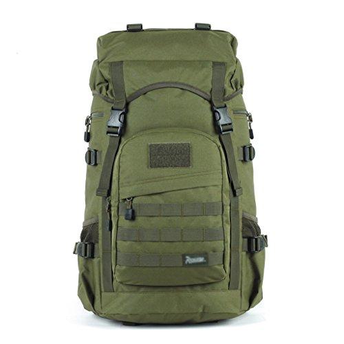 Xuan – worth having 50L Outdoor Travel Mountaineering Bag Men And Women Waterproof Shoulder Trekking Boarding Backpack…