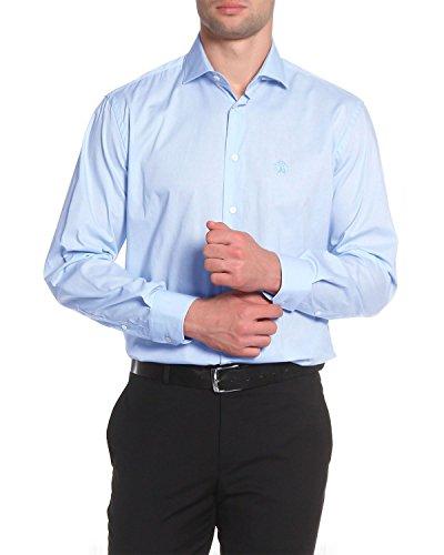 Cavalli Men Shirt - Roberto Cavalli - Men's Slim Fit Shirt FSR705 - Blue, 40