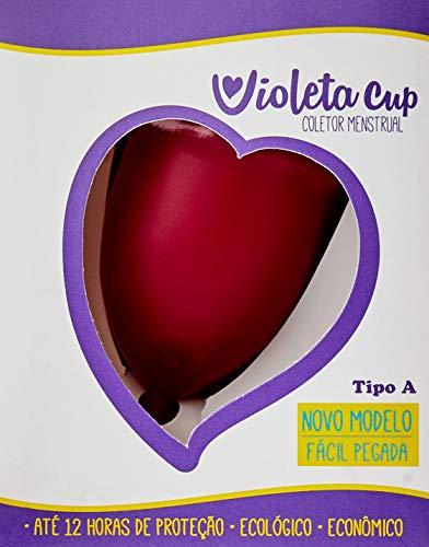 Violeta Cup Coletor Menstrual Vermelho Tipo A, Violeta Cup, Vermelho, Tipo A Mulheres A Partir De 30 Anos Ou Com Filhos, E/Ou Com Colo Do Útero De Altura Média E Alta