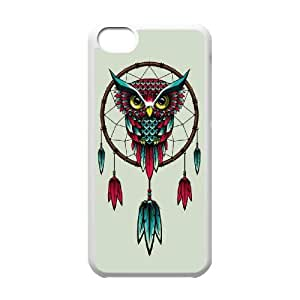 Diy Owl Dream Catcher Custom for iphone 5c White Shell Phone Case LIULAOSHI(TM) [Pattern-5] by mcsharks