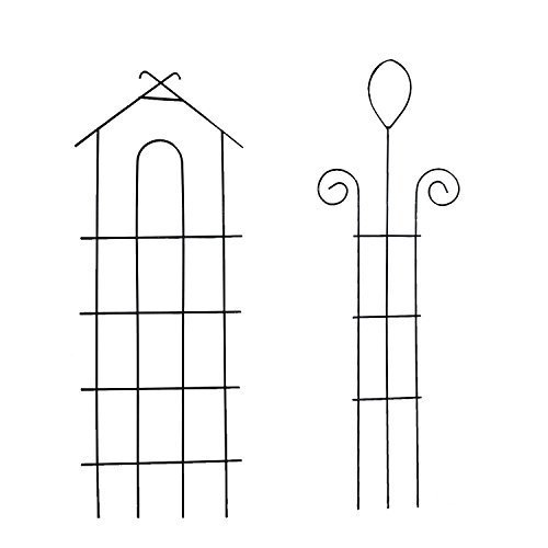 (Garden Climber Shelf - Metal Flower Rack - Trellis/garden trellis/climbing plants pot - Vegetable Rack for Plant Climbing - Set of 2 - addpoweradd EXCLUSIVE)
