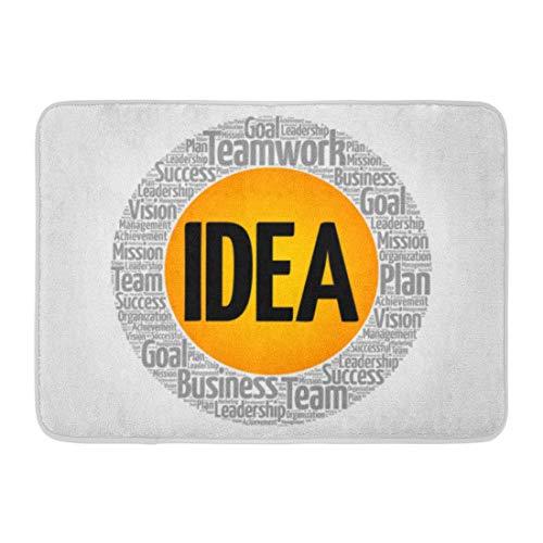Aabagael Bath Mat Brainstorm Argument Idea Circle Word Cloud Concept Brain Brainstorming Bathroom Decor Rug 16