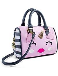 Luv Betsey Johnson Harlee Kitsch Unicorn Mini Crossbody Satchel Bag - Pink