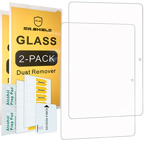 ([2-Pack]-Mr.Shield for Huawei MediaPad T3 10 Inch / 9.6 Inch [Tempered Glass] Screen Protector [0.3mm Ultra Thin 9H Hardness 2.5D Round Edge] with Lifetime Replacement )