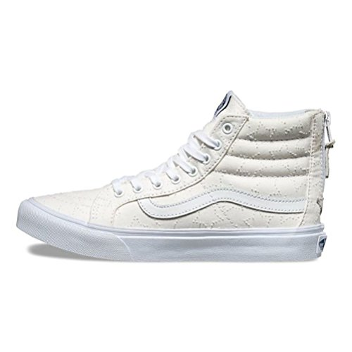 Vans Unisex Vans SK8-Hi Slim Zip Sneaker Star Dots True White