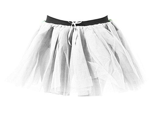 Femmes Janisramone Dames Poule 3 Tutu 80 Jupe Over Halloween ' Net Nouveau Mini Fte Blanc Danse Costume Robe Fantaisie Couches AARwdrq