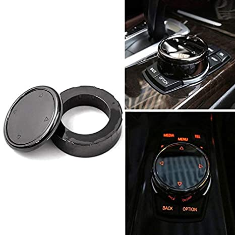 For BMW F10 F20 F30 F32 F33 F34 Car Multi Media Knob Cover Trim Black iDrive ABS