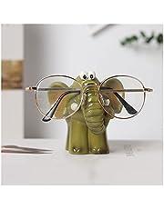 Zonnebrilrek Creative Animal Eyeglass Holder Hars Elephant Bril Stand Crafts for Office Desk Home Decor Gift, Green Zonnebrilstandaard
