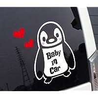 ペンギン柄Baby in Car 赤ちゃんが乗ってます カッティングステッカー