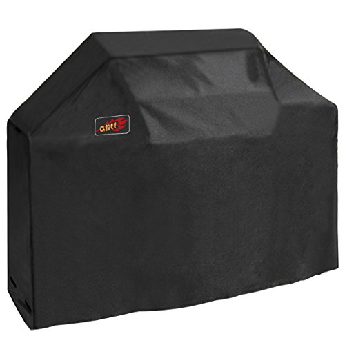VicTsing BBQ Gas Grill Cover Heavy Duty Waterproof Cover with Velcro Secure Straps for Brinkmann, Char Broil, Holland and Jenn Air ( Medium 58-Inch, 600D Oxford Fabric) (Grill Gas Cover)