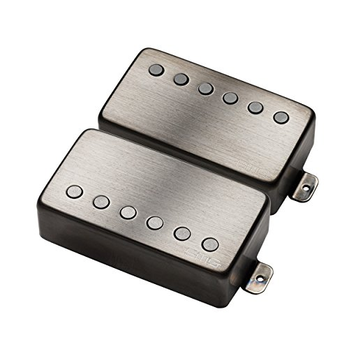 EMG JH Set James Hetfield Electric Guitar Pickup Set, Brushed Black Chrome