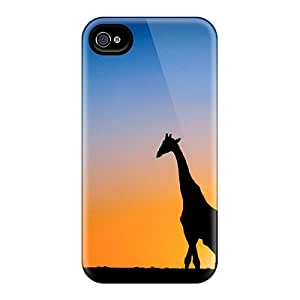 Top Quality Rugged Sunset & Giraffe Botswana Cases Covers For Iphone 6