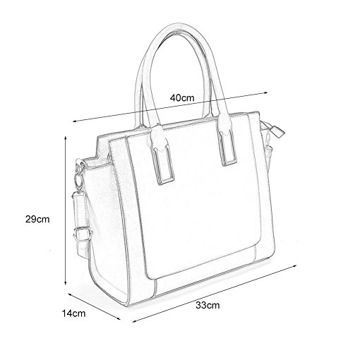Tote Satchel Women Young Sally Grey Fashion Handbags Bag Contrast Top Handle cOIc6Tyf
