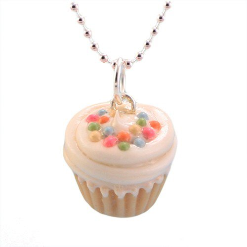 Tiny Hands Women's Scented Vanilla Sprinkles Cupcake Necklace