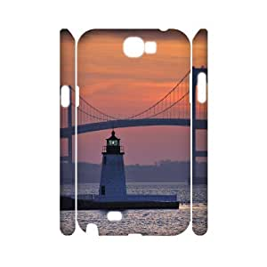 Lighthouse Custom 3D Cover Case for Samsung Galaxy Note 2 N7100,diy phone case ygtg545799