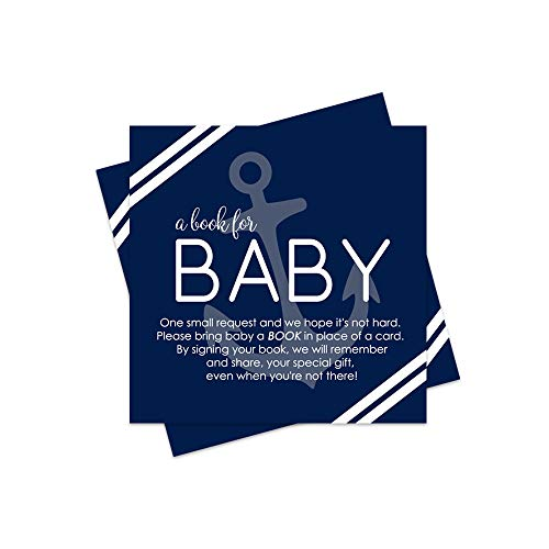 Nautical Bring a Book for Baby Insert - Set of 25