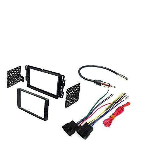 2007-2013 Chevy Silverado Double Din Dash Kit For Stereo Installation+ Wire Harness And Antenna Adapter