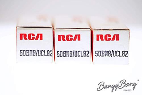 3 Vintage UCL82 / 50BM8 RCA Black Plate Large Getter Premium Audio Tube - BangyBang Tubes