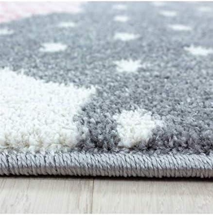 Carpettex Teppich Kinderteppich B/éb/é Tapis De Chambre denfants des Nuages Motif Bleu Gris Blanc Les Couleurs 80x150 cm