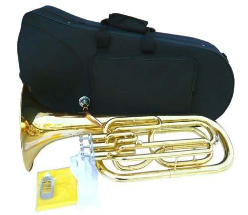 NEW BRASS B Flat BARITONE Horn W/CASE by other (Image #2)