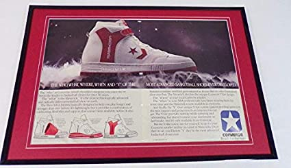 68674ba1eb24a3 Image Unavailable. Image not available for. Color  1985 Converse Maverick  12x18 Framed ORIGINAL Vintage Advertising Display