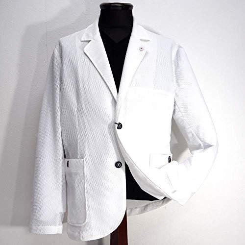 70580 CAPRI カプリ メッシュ シングルジャケット ホワイト 48(L) サイズ メンズ カジュアル 男性 春夏 ゴルフ 通販