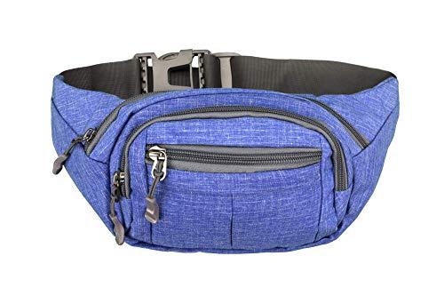 Fanny Pack Travel Hiking Festival Waist Bum Bag Phanny Packs Canvas – Blue Denim