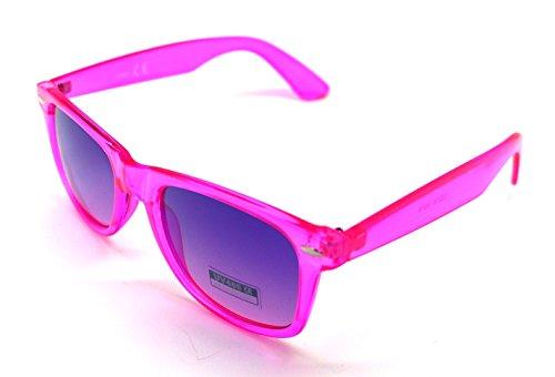 Traslucido de Sunglasses Sol Hombre Espejo Gafas Rosa Mujer Wayfarer xdgawHA8