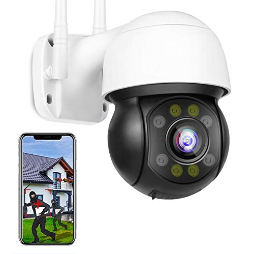 Wireless WiFi Outdoor Security Dome IP PTZ Camera 1080P HD CCTV Camera Surveillance,HD Color Night Vision,Voice Alarm…